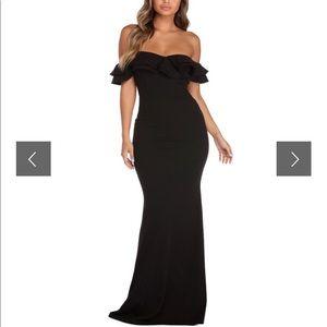 Lindsey Double Ruffle Formal Dress